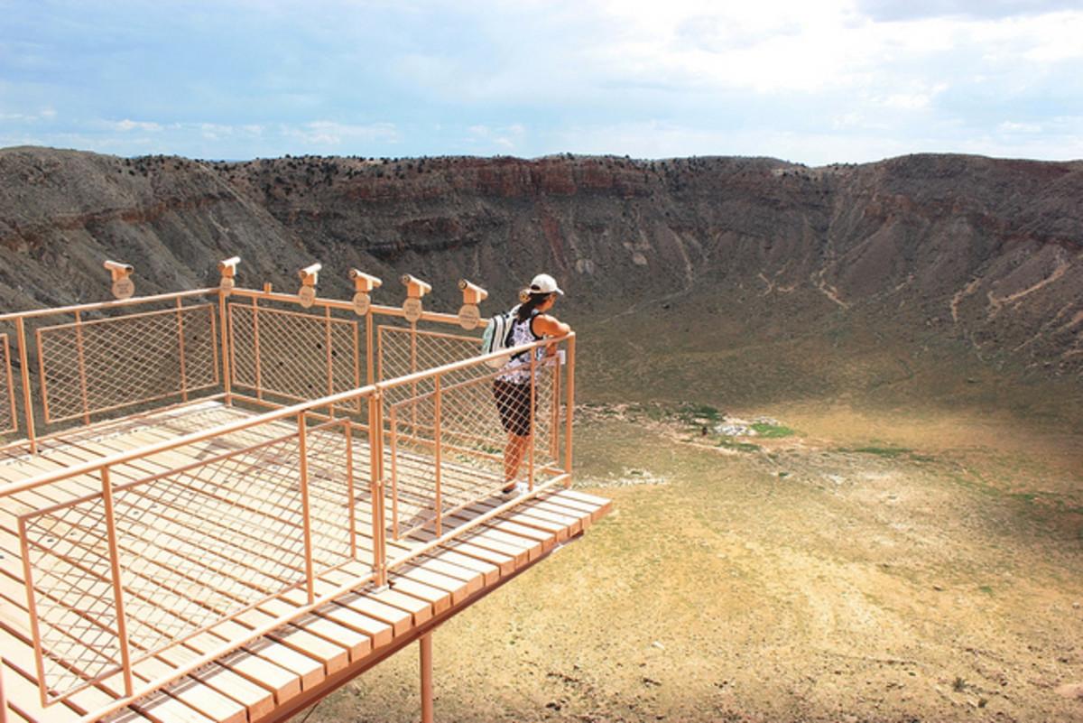 Barringer Meteor Crater in Arizona