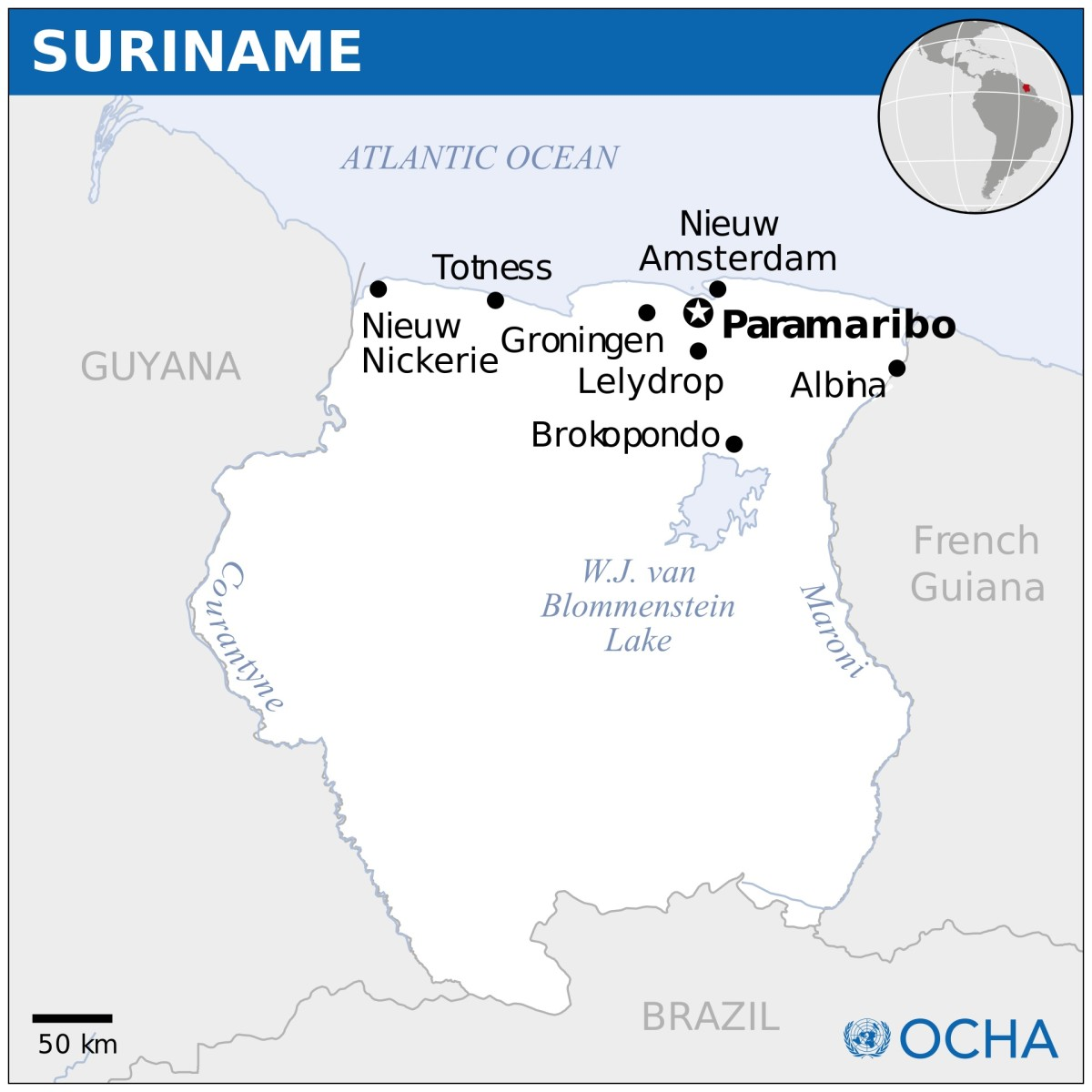 The Surinam toad is named after the country of Suriname, which is located in the northeastern part of South America.