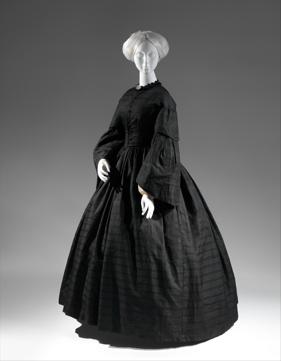 American Mourning Dress, 1850-55