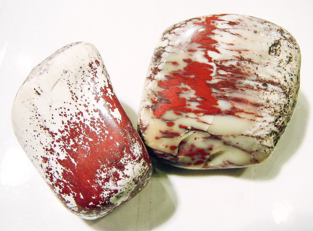 Cinnabar and a mineral called alunite
