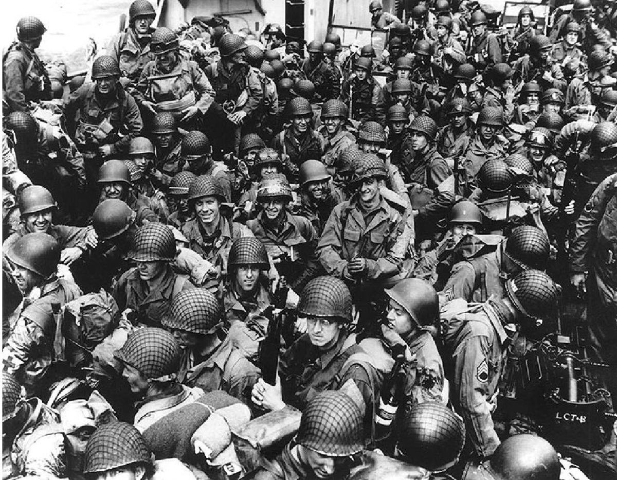 US troops on D-Day, June 1944