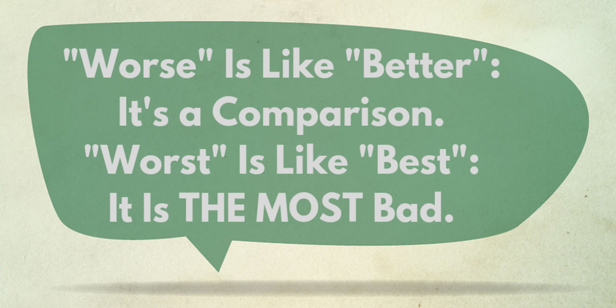 "What does ""worse"" mean? What does ""worst"" mean?"