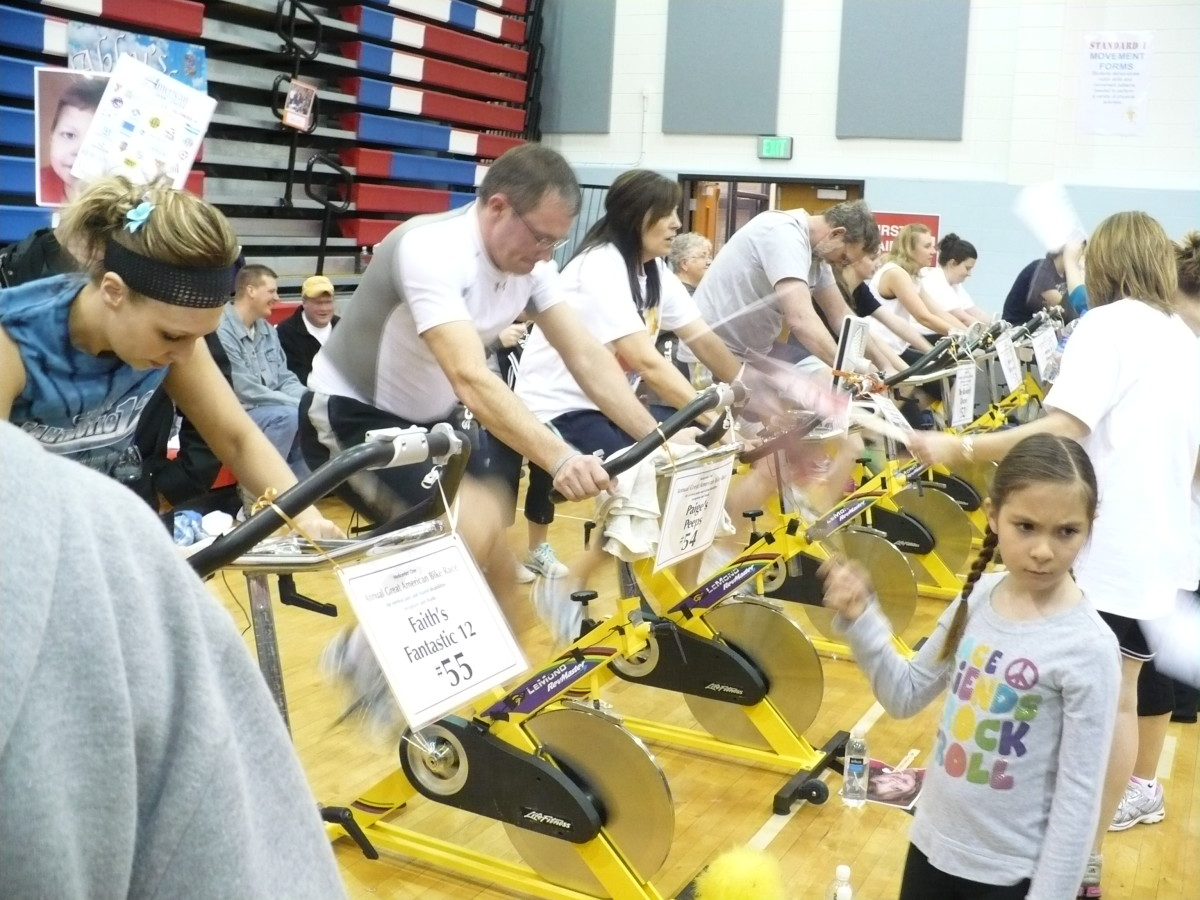 The Great American Bike Race is a stationary bike event to raise money for kids with cerebral palsy and related disabilities