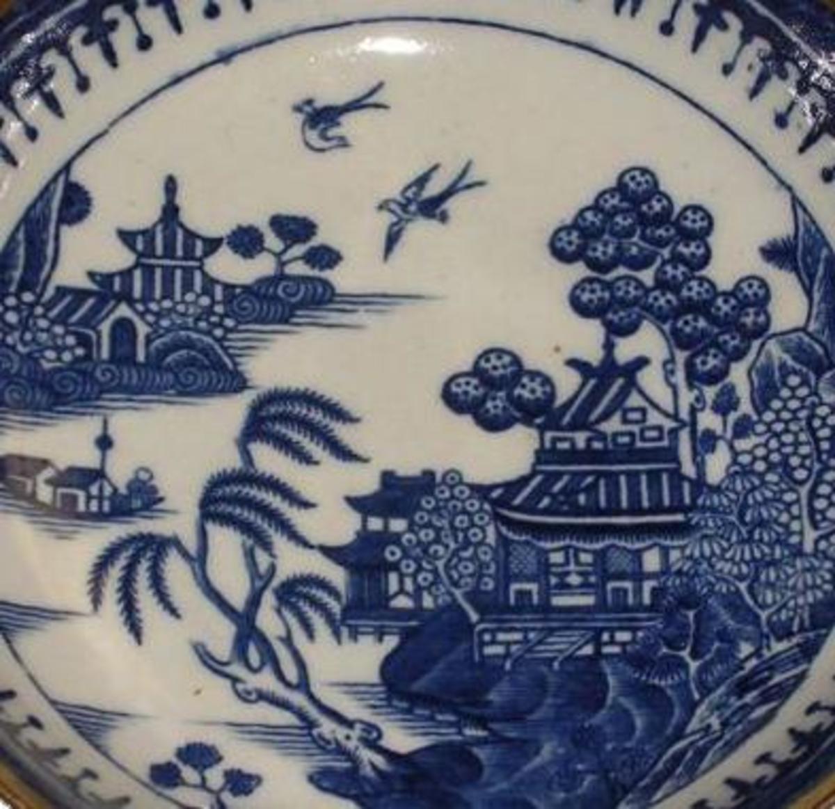 Caughley porcelain Willow Nankin