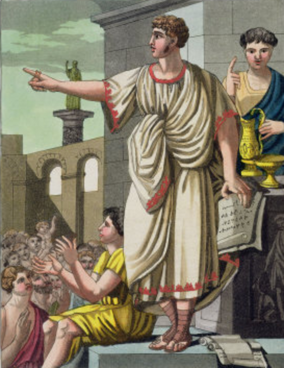 Roman Speaker, Applauding Crowd