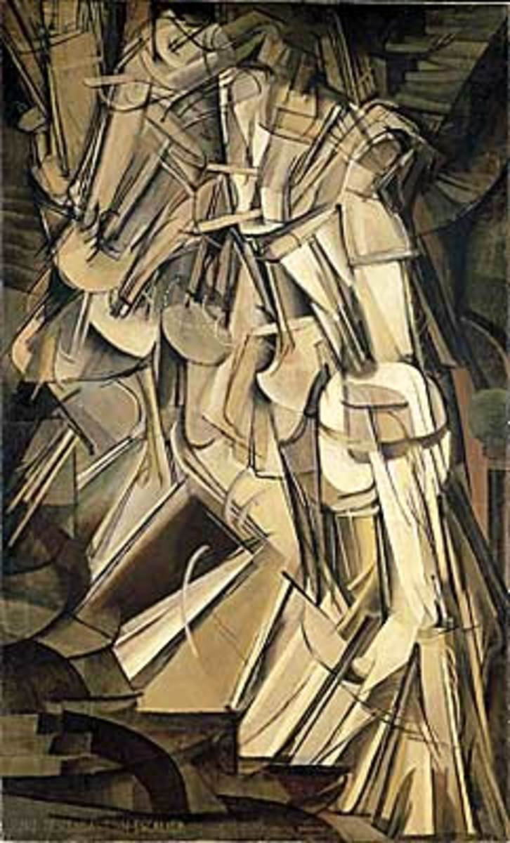 """""""Nude Descending a Staircase No. 2"""" by Marcel Duchamp"""