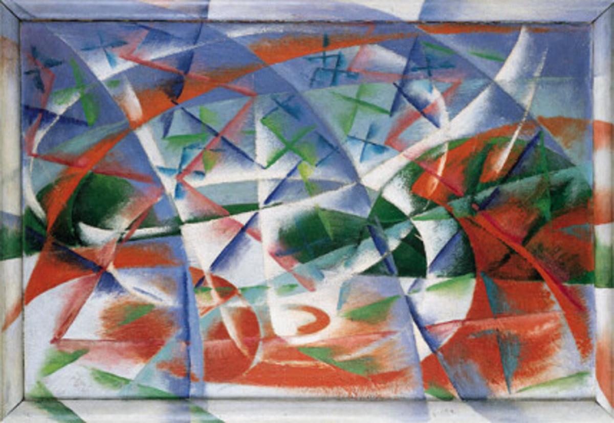 """""""Abstract Speed + Sound"""" by Giacomo Balla"""