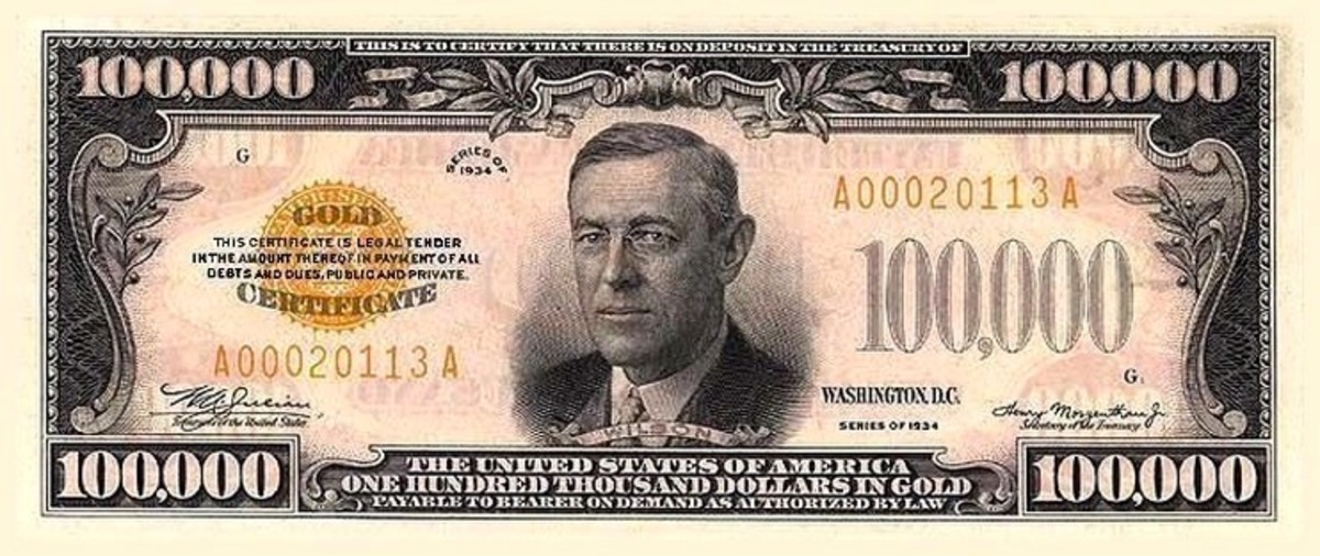 Woodrow Wilson is on the 10,000 dollar bill.