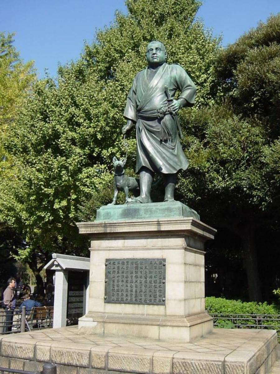 A statue of Saigō stands in Kagoshima