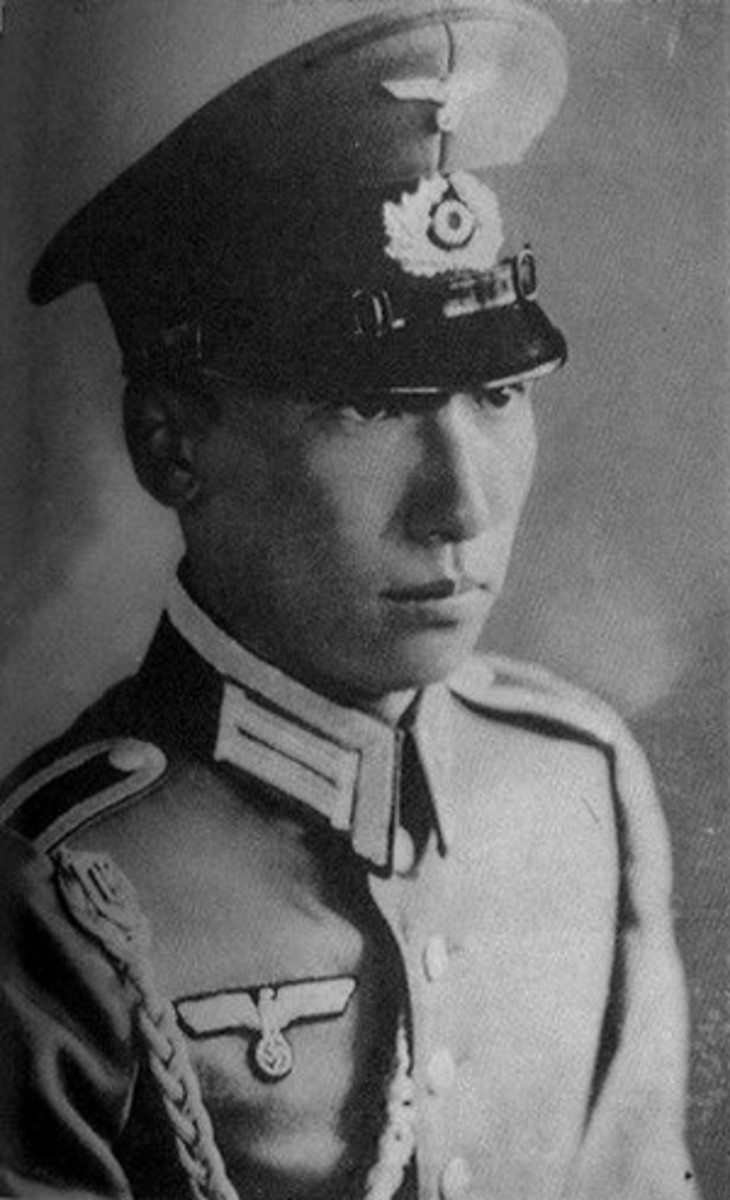 Chiang Wei-Kuo, son of Chang Kai-Shek, in his German Army uniform.