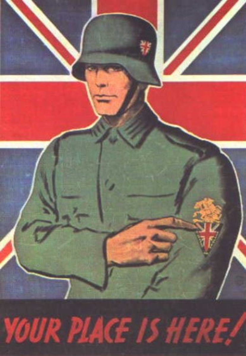 A Nazi propaganda poster, urging British men to join the German military.