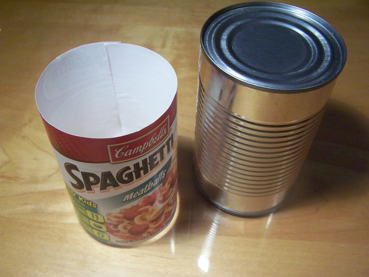 Roll the label back up. Notice that the width of the label is actually the circumference of the can.