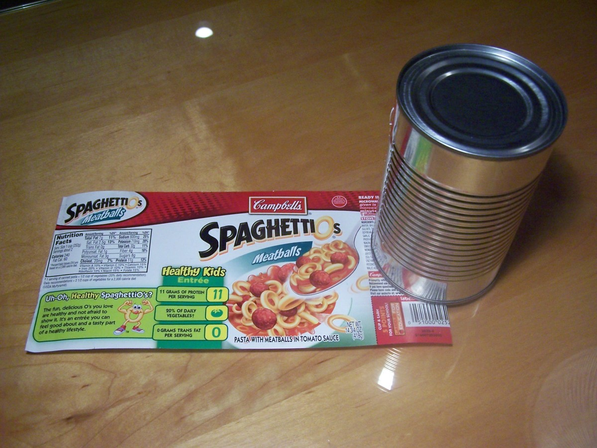 In order to visualize the shape of the side of the can unroll the label. Notice the label is a rectangle.