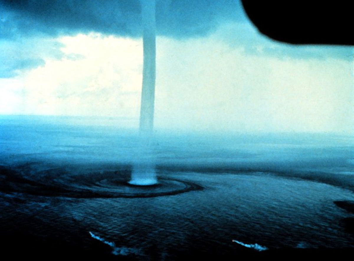 A fair-weather waterspout off the coast of the Florida Keys