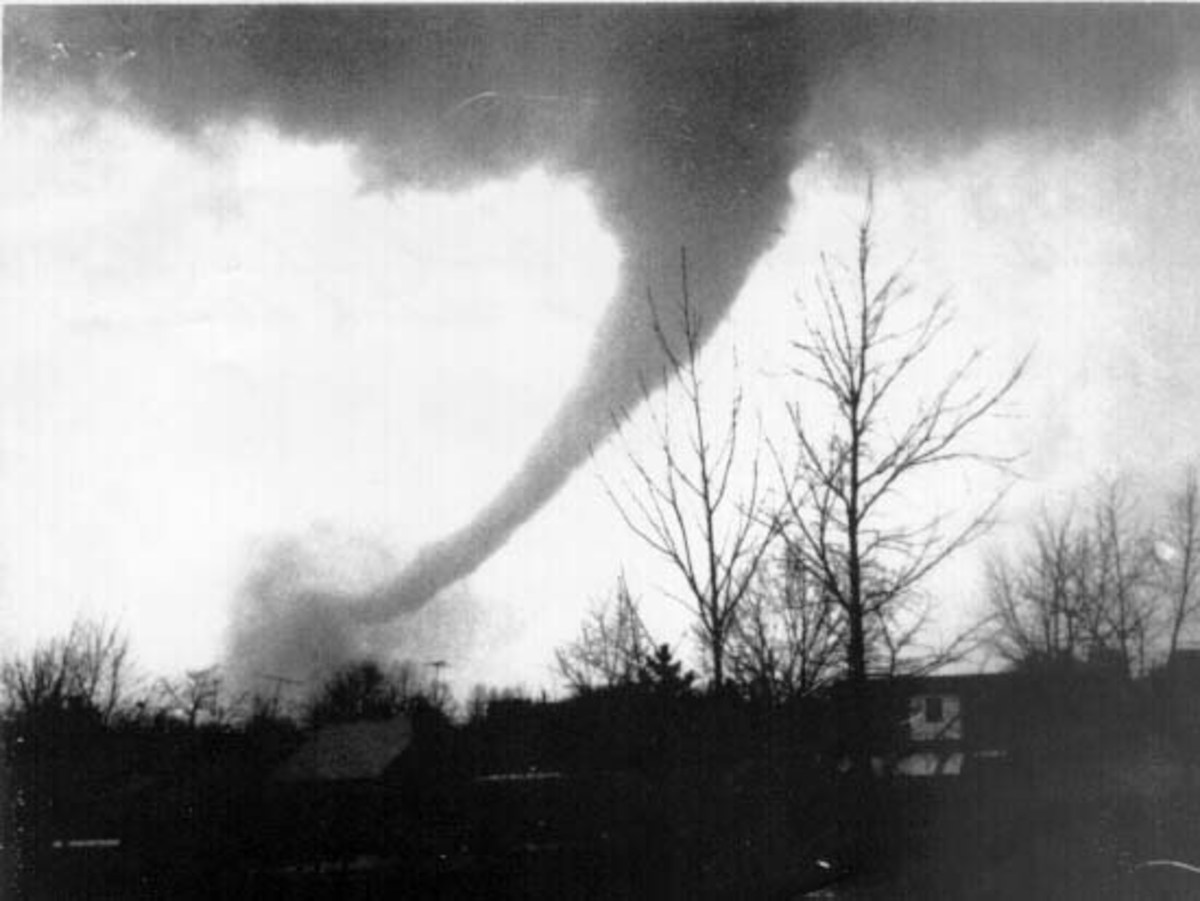 Dayton-Cincinnati metropolitan tornado, April 3rd, 1974.