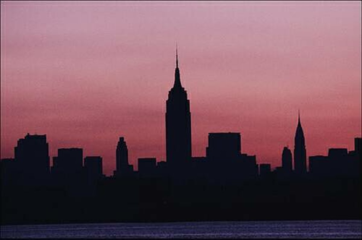New York City skyline during the blackout