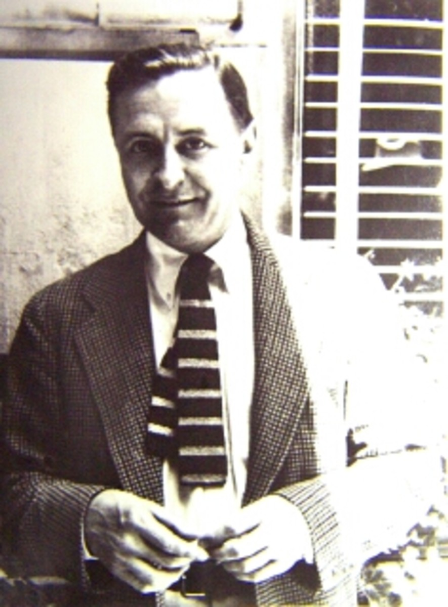 The writer pictured in Hollywood not long before his death at the age of forty-four.