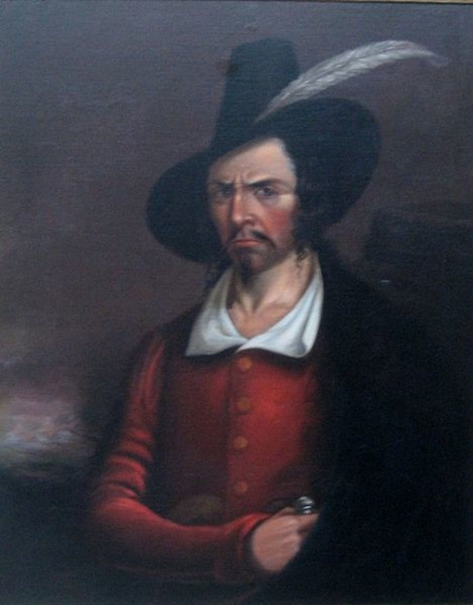 Anonymous portrait of Jean Lafitte, early 19th century, Rosenberg Library, Galveston, Texas - Source: Public Domain via Wikimedia Commons