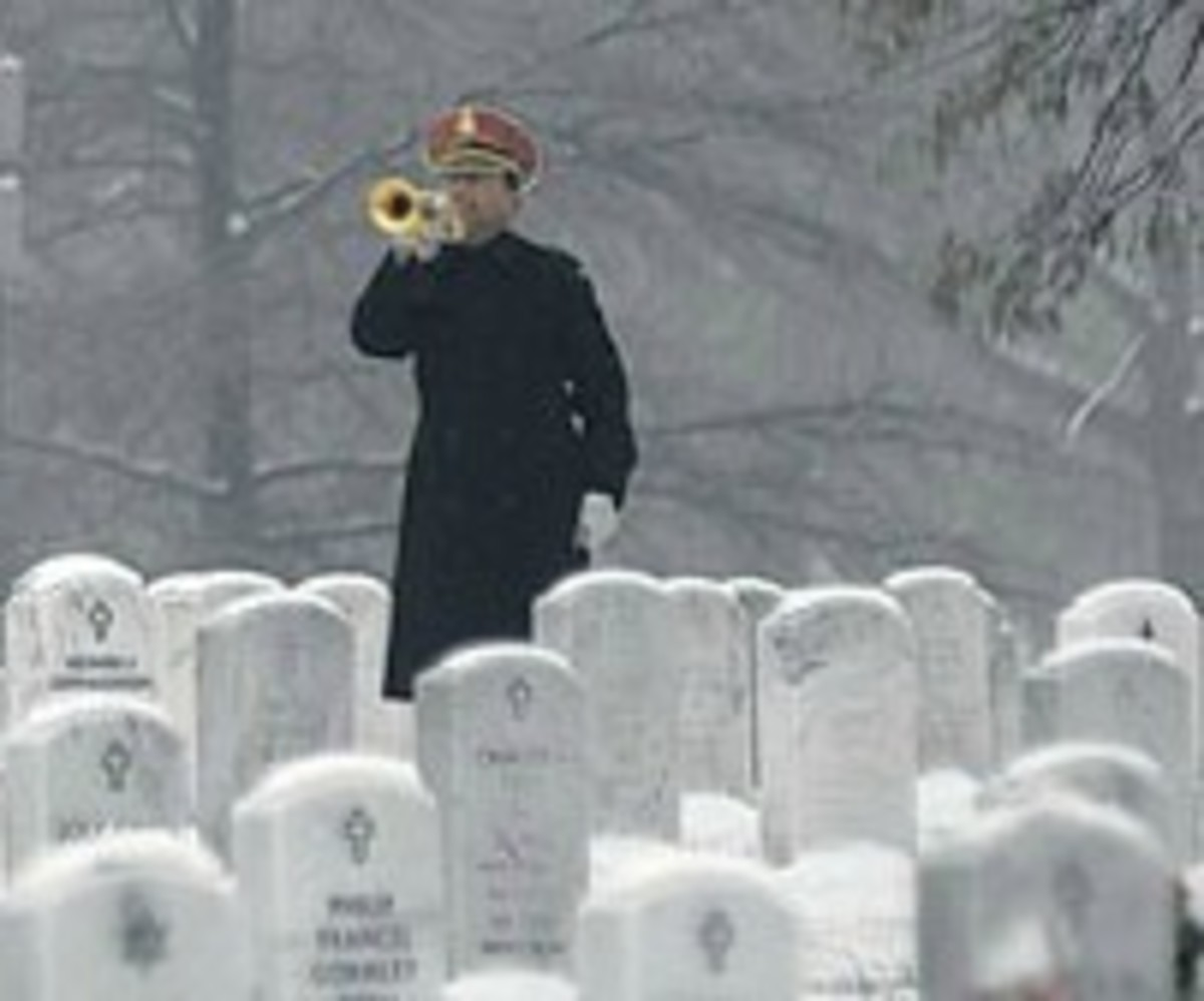 Bugler on a Snowy Day at Arlington