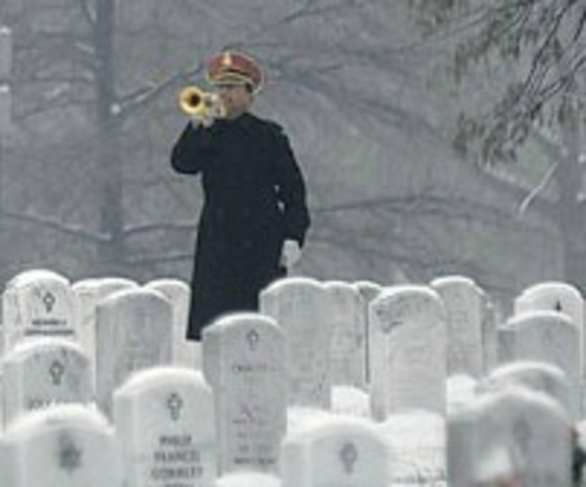 Bugler on a Snowy Day at Arlington