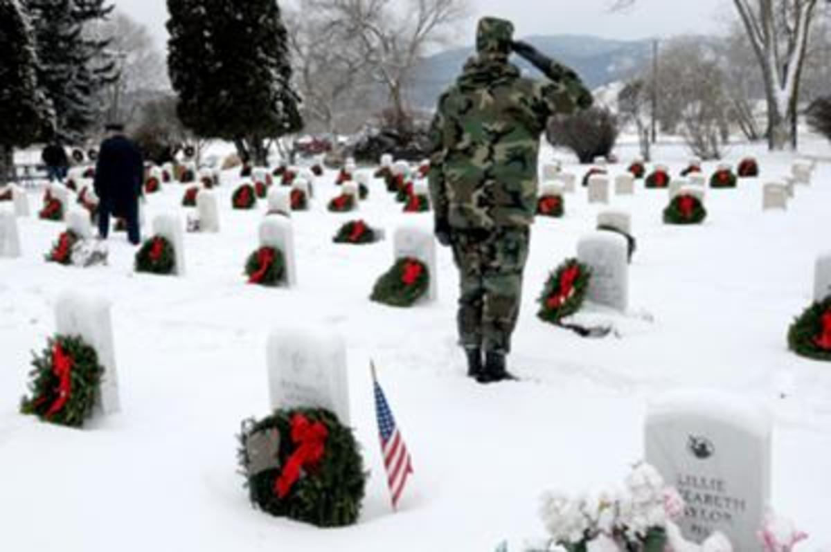 Wreaths Across America program at Arlington Cemetery 2012