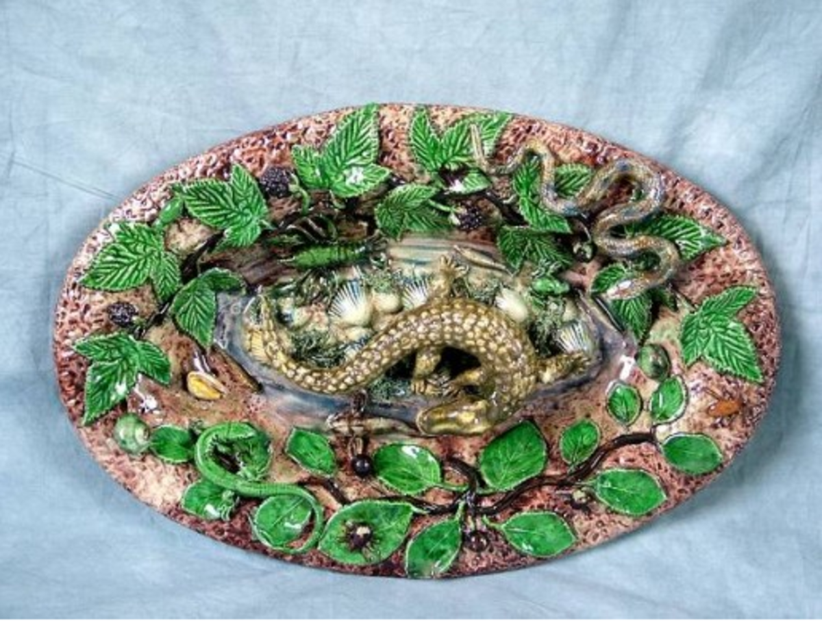 Exquisite design of French ceramic ware made by Bernard Palissy