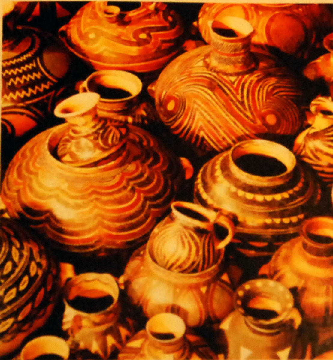 Handmade earthenware pots.