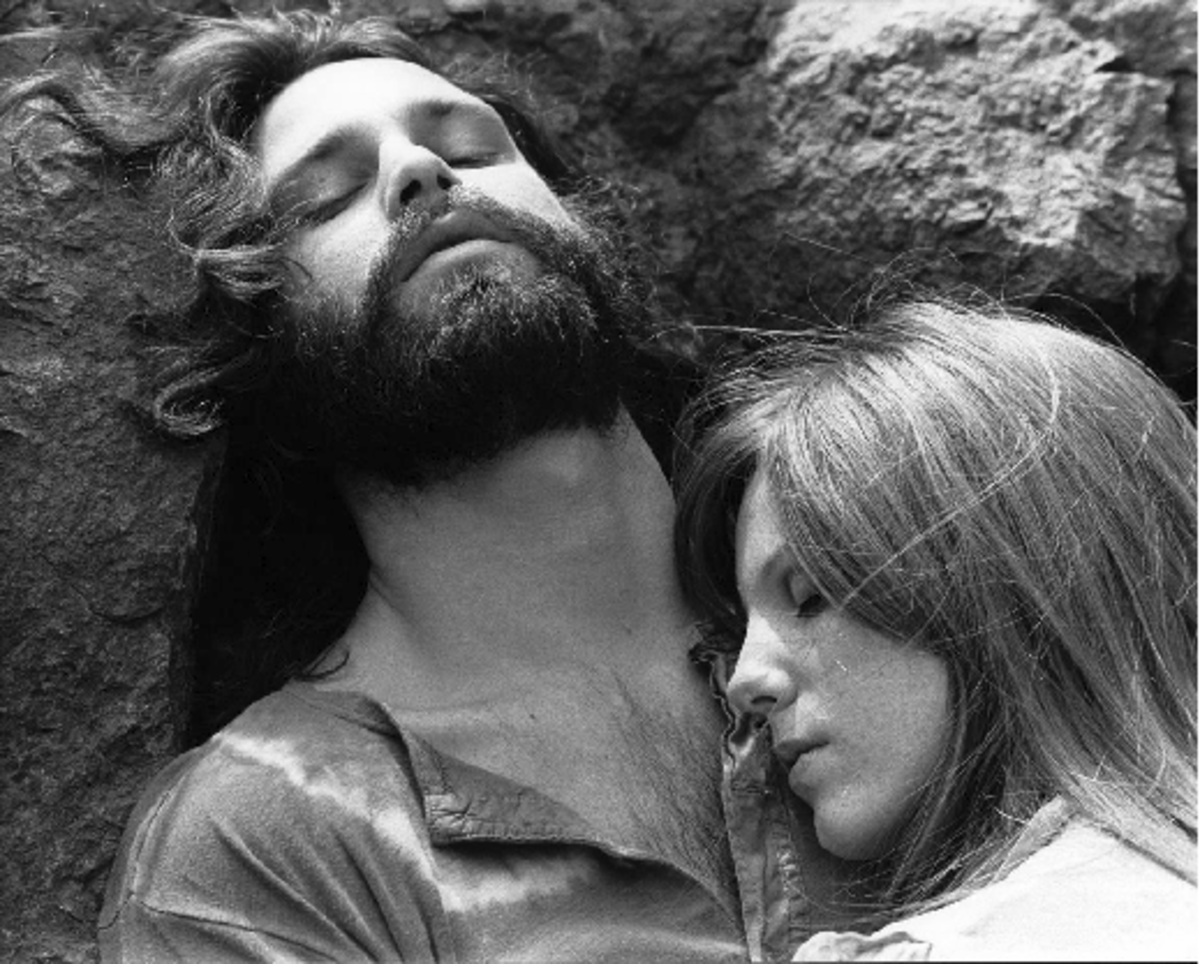 Jim Morrison and love of his life, Pamela Courson