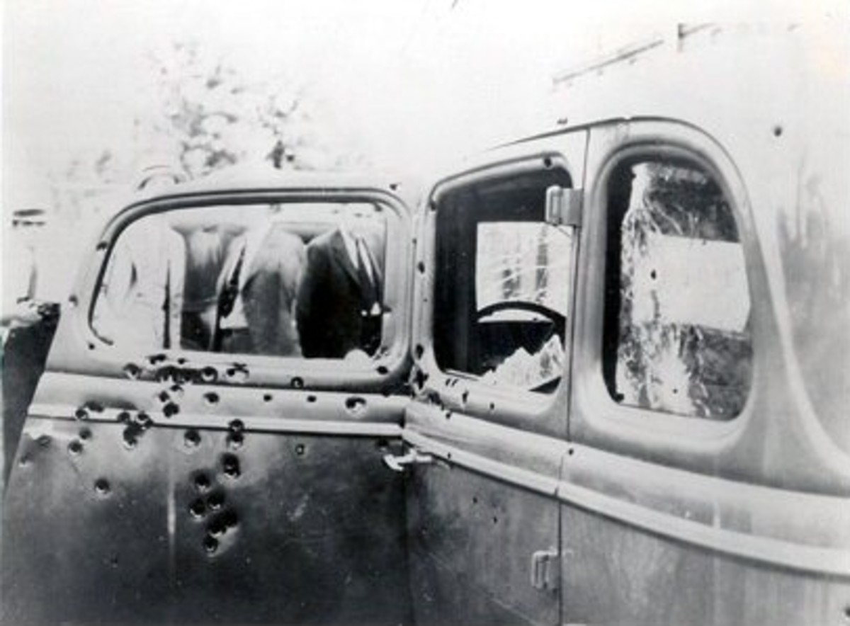 Clyde's car after the Ambush
