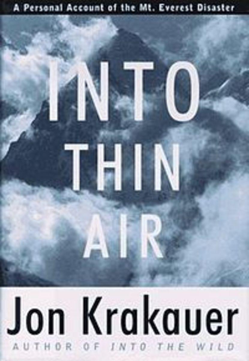 Cover of Jon Krakauer's book, Into Thin Air