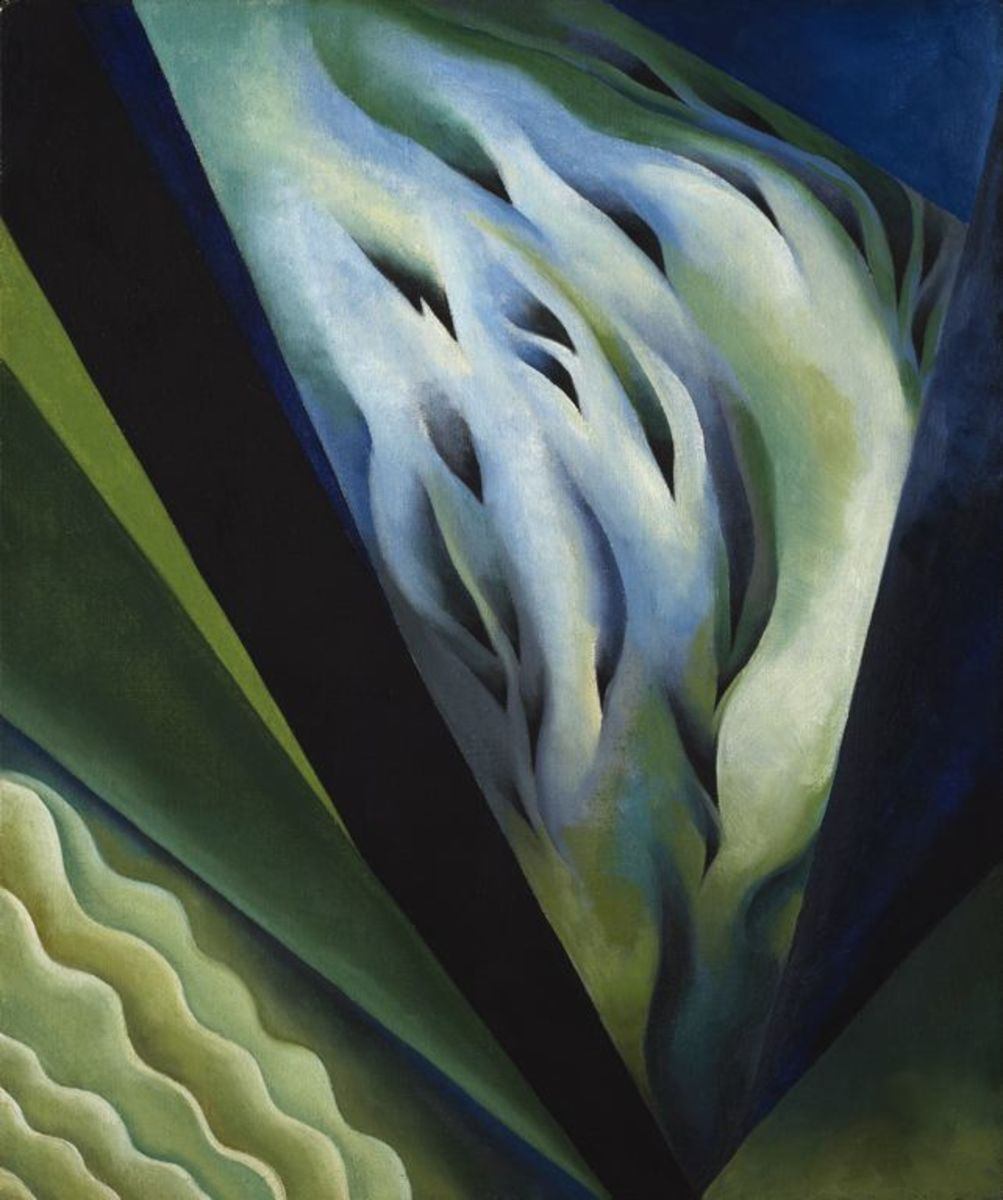 Deep saturated colors became a hallmark of O'Keefe's work.