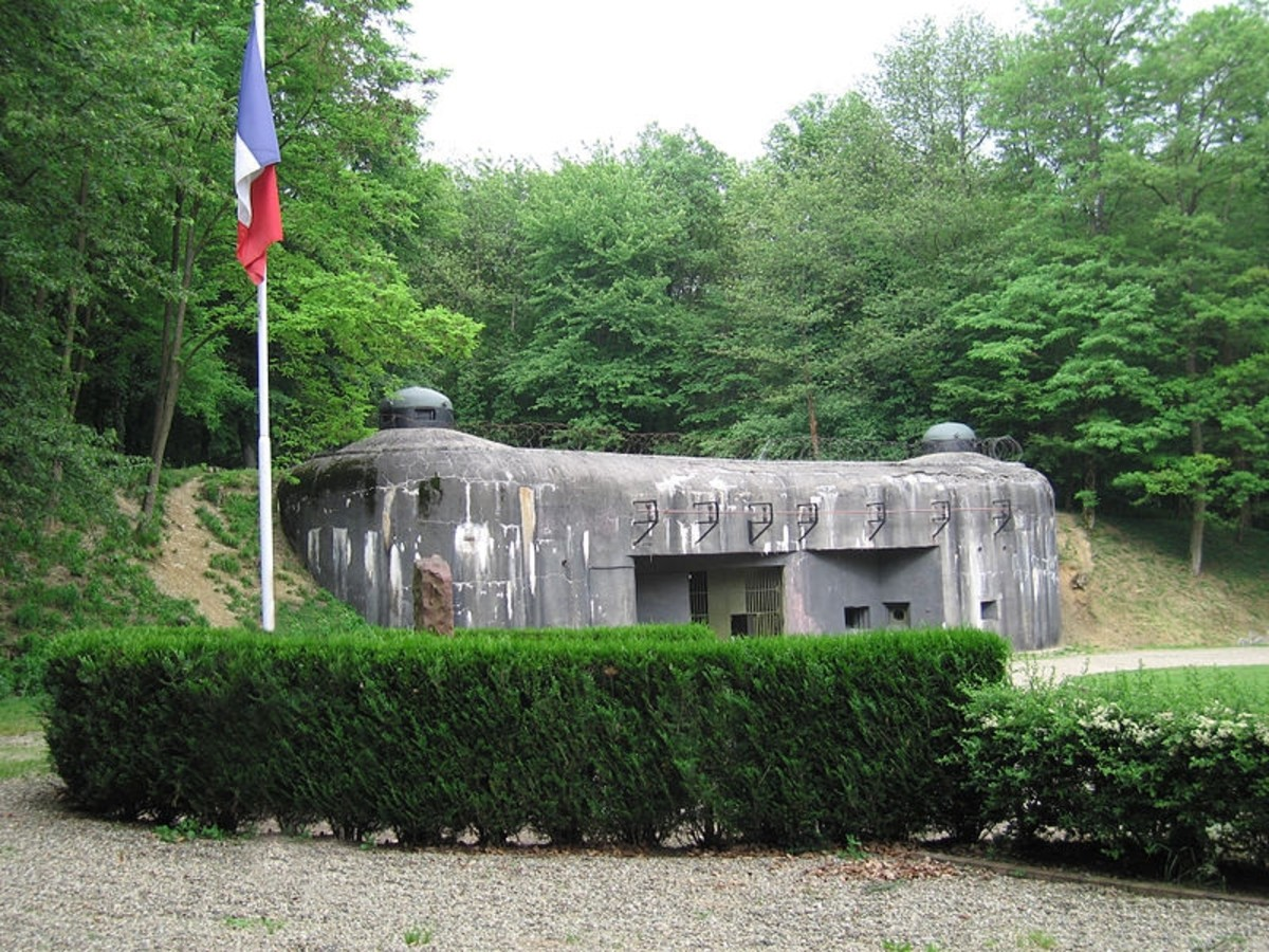 The visible portion of the Ouvrage (Fortress) Schoenenbourg in Alsace, part of the Maginot Line. There were 142 fortresses along the Maginot Line.