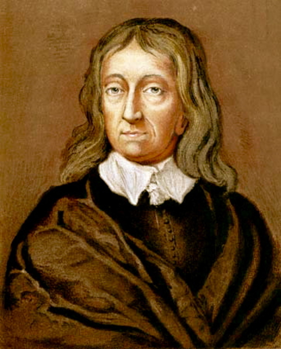 Cambridge graduate, politically outspoken, hexa-lingual in Latin, Greek, French, Spanish, Italian and English as well as being a poet, the man himself, John Milton