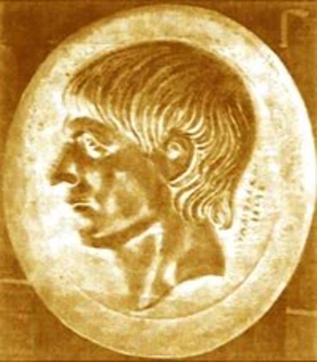Young Scipio on a coin