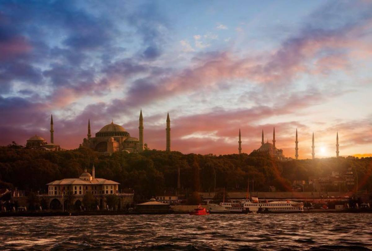The skyline of Istanbul. Imagine seeing this sunset 200 years ago.