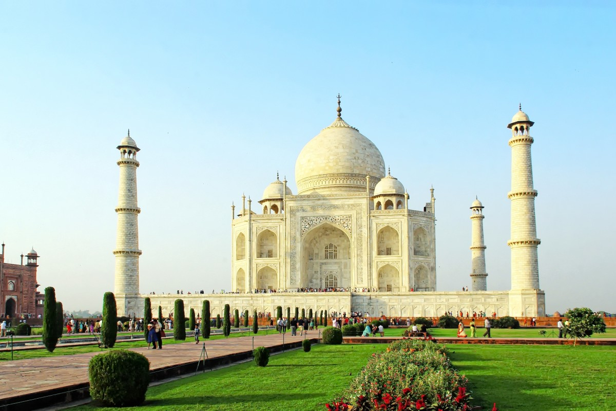 A lasting legacy of Mughals. The Taj Mahal.