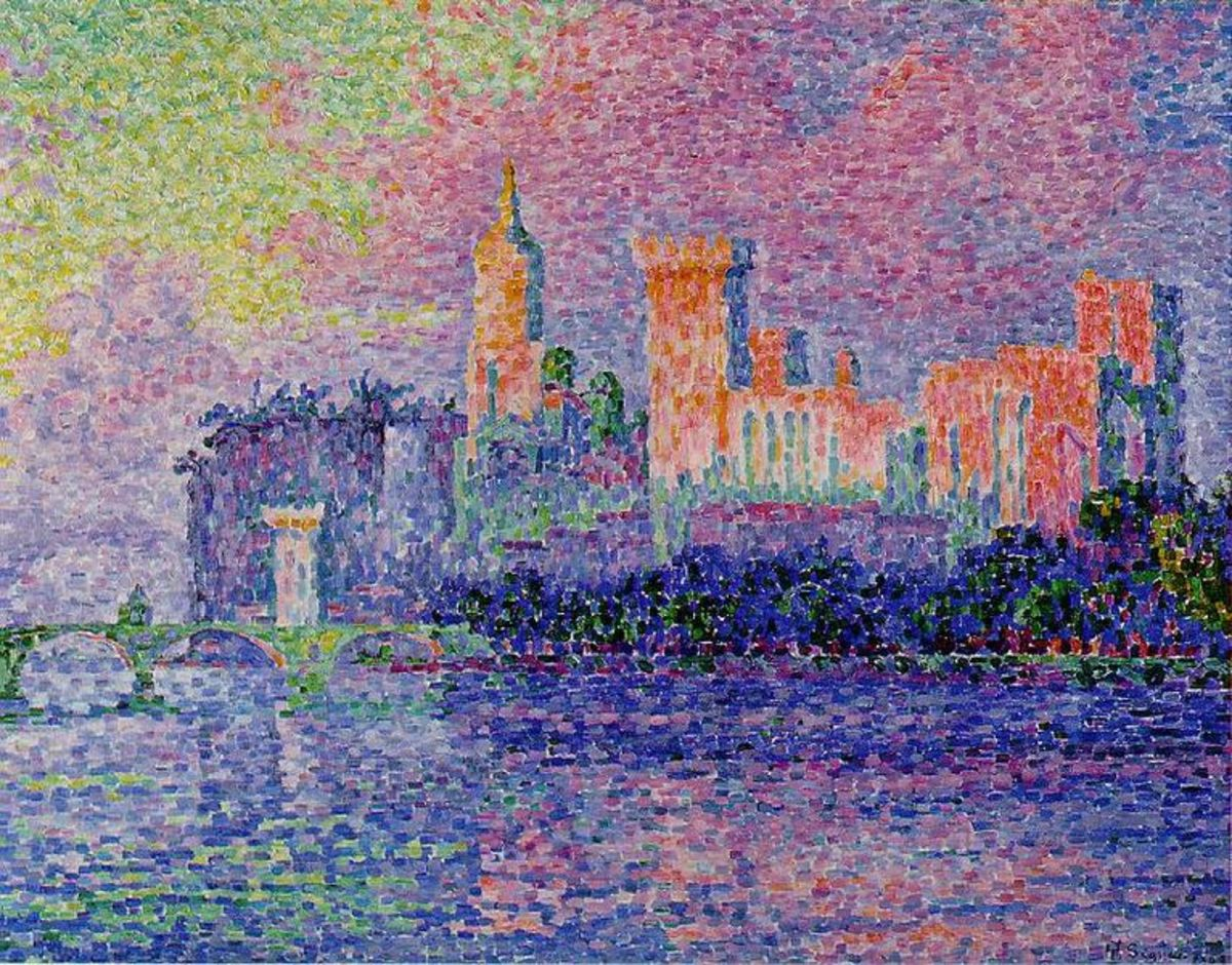 """Palais des Papes Avignon"" (""The Papal Palace, Avignon""), Paul Signac, 1900"