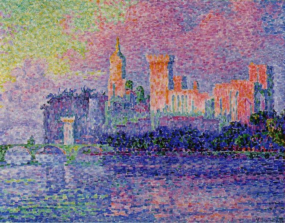 """""""Palais des Papes Avignon"""" (""""The Papal Palace, Avignon""""), Paul Signac, 1900"""