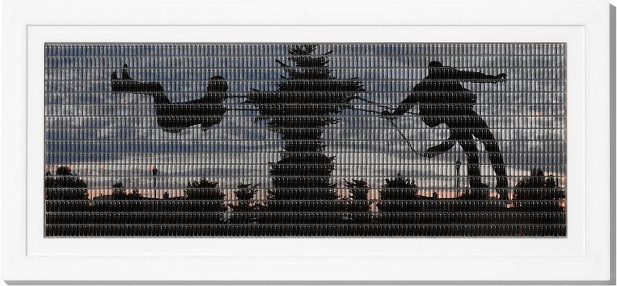 """Hope,"" Andy Diaz, 2006 (Digital photograph reassembled in pill capsules.)"