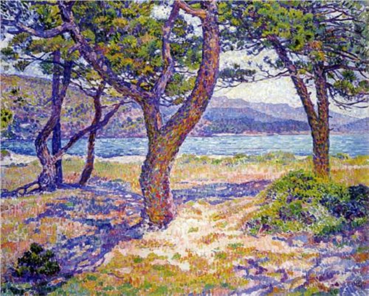 """Il Mediterraneo Presso le Lavandou"" (""The Mediterranean at Le Lavandou""), Theo Van Rysselberghe, 1926"