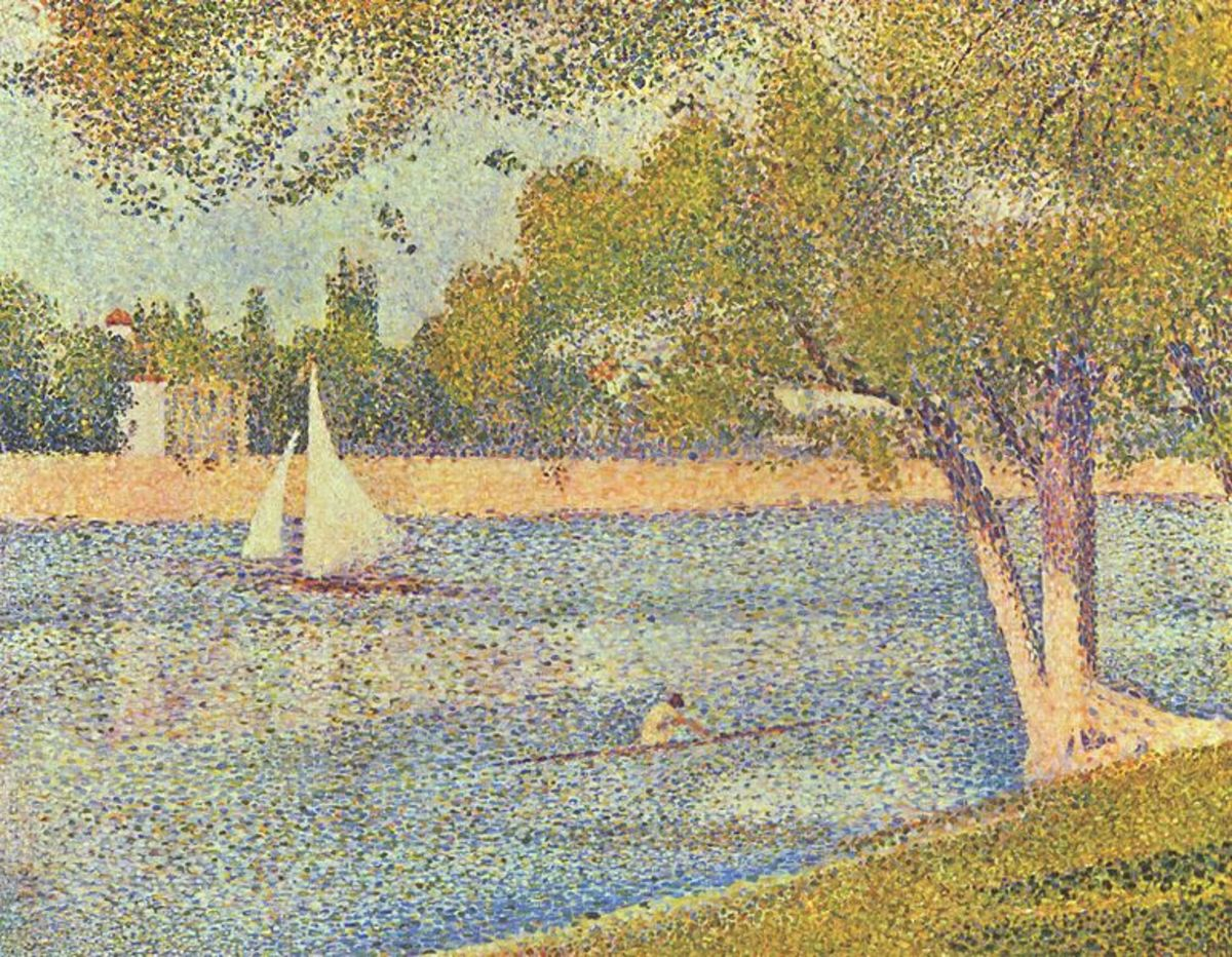 """La Seine à la Jatte Grand, Printemps"" (""The Seine to the Grand Jatte, Spring""), Georges Seurat, 1888"