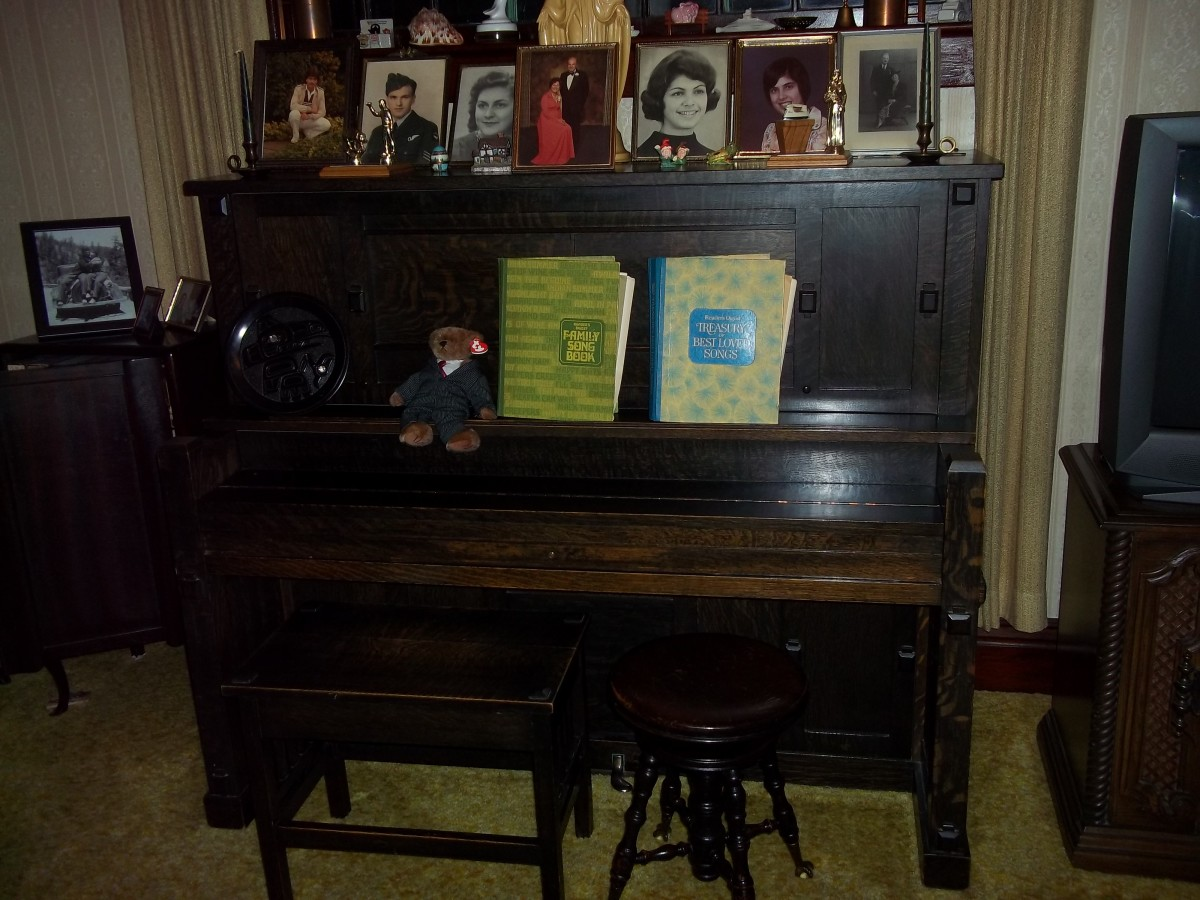 The piano remains...a family heirloom from 1907.