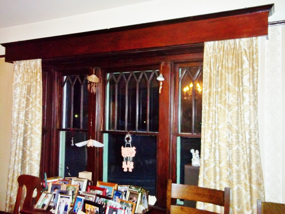 Sashes over the windows were added at Muriel's behest...she wanted to dress the place up...and the wood throughout the home shows this appreciation for excellence.