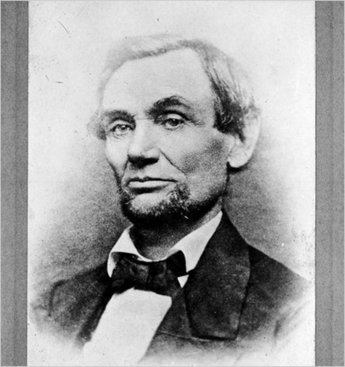 This is the first picture of Abraham Lincoln with a beard. Taken by Samuel G. Alschuler