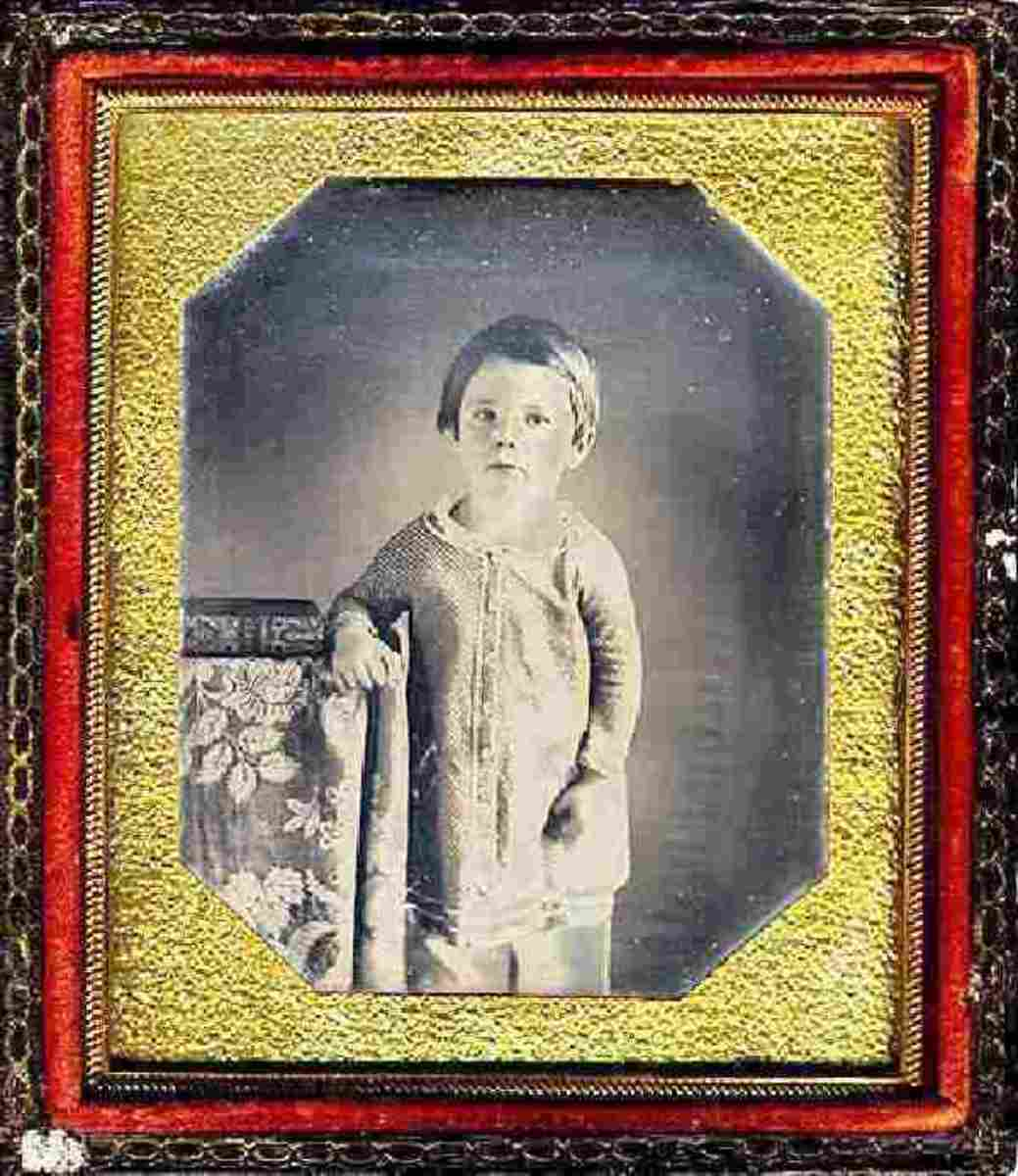 Photo of Edward Lincoln, the earliest photo of a presidential child taken about 1849.