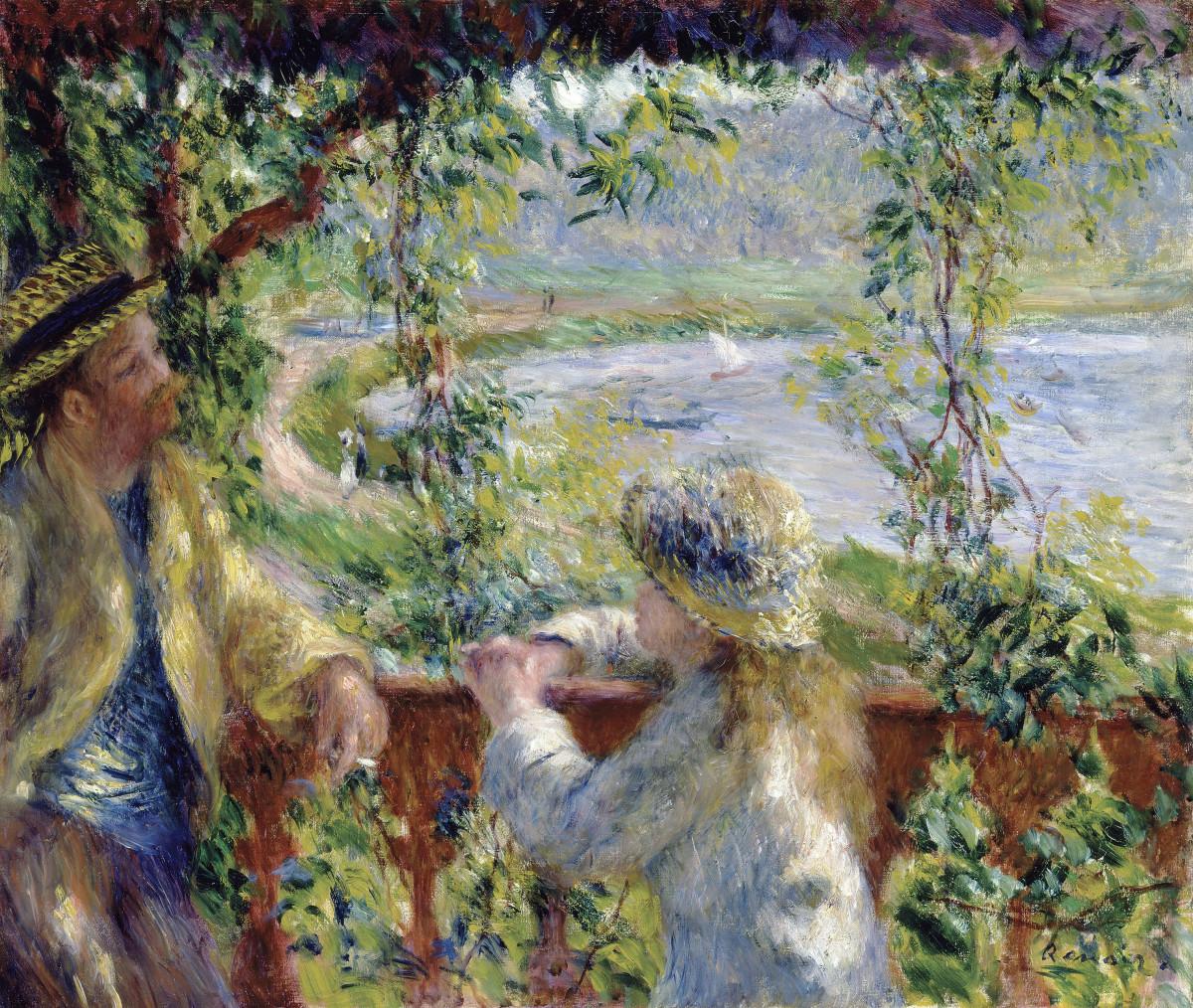 """Pierre-Auguste Renoir painted """"By the Water,"""" in 1880."""