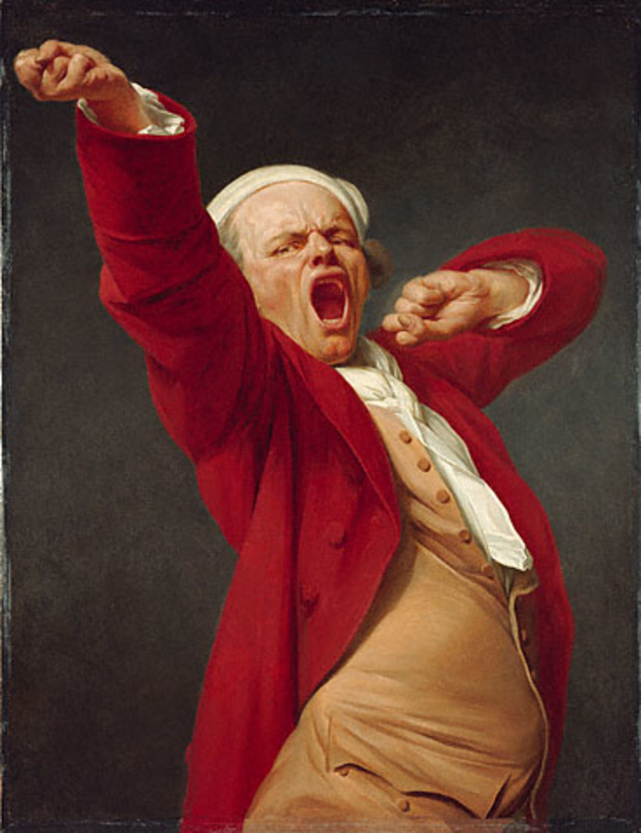 Yawning, A Self portrait by Joseph Ducreux (1735–1802)