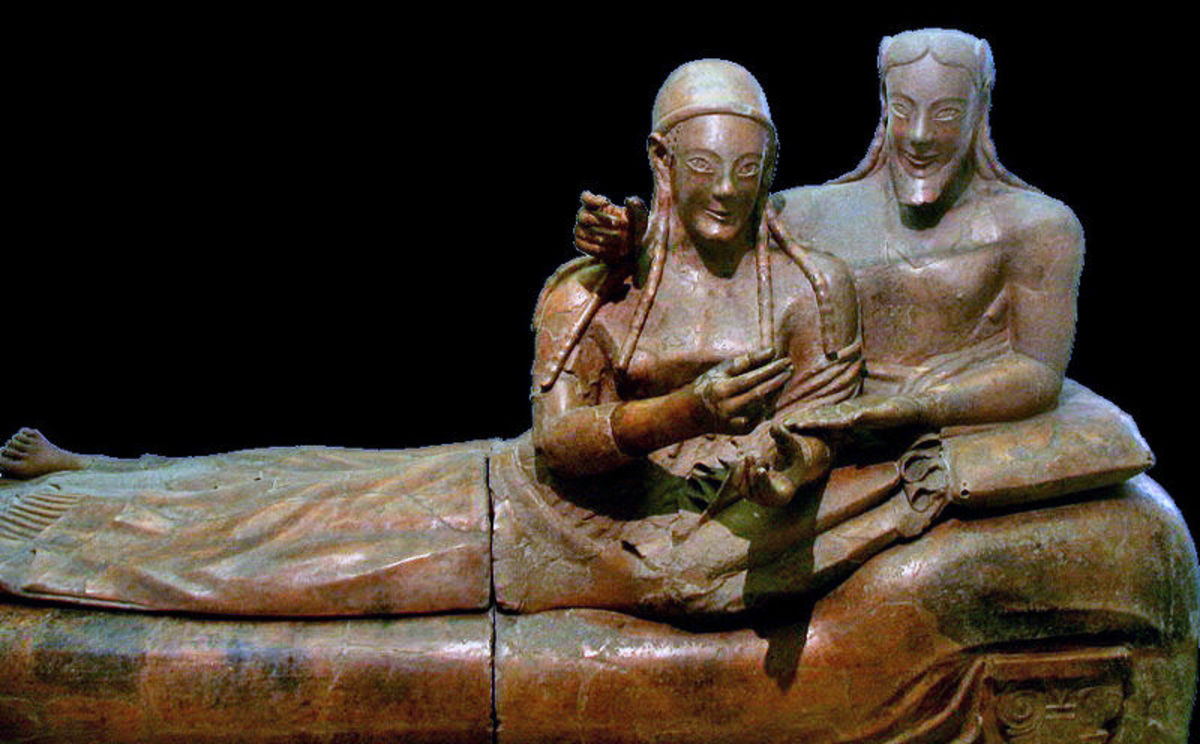 The Sarcophagus with Reclining Couple from Cerveteri, Italy.
