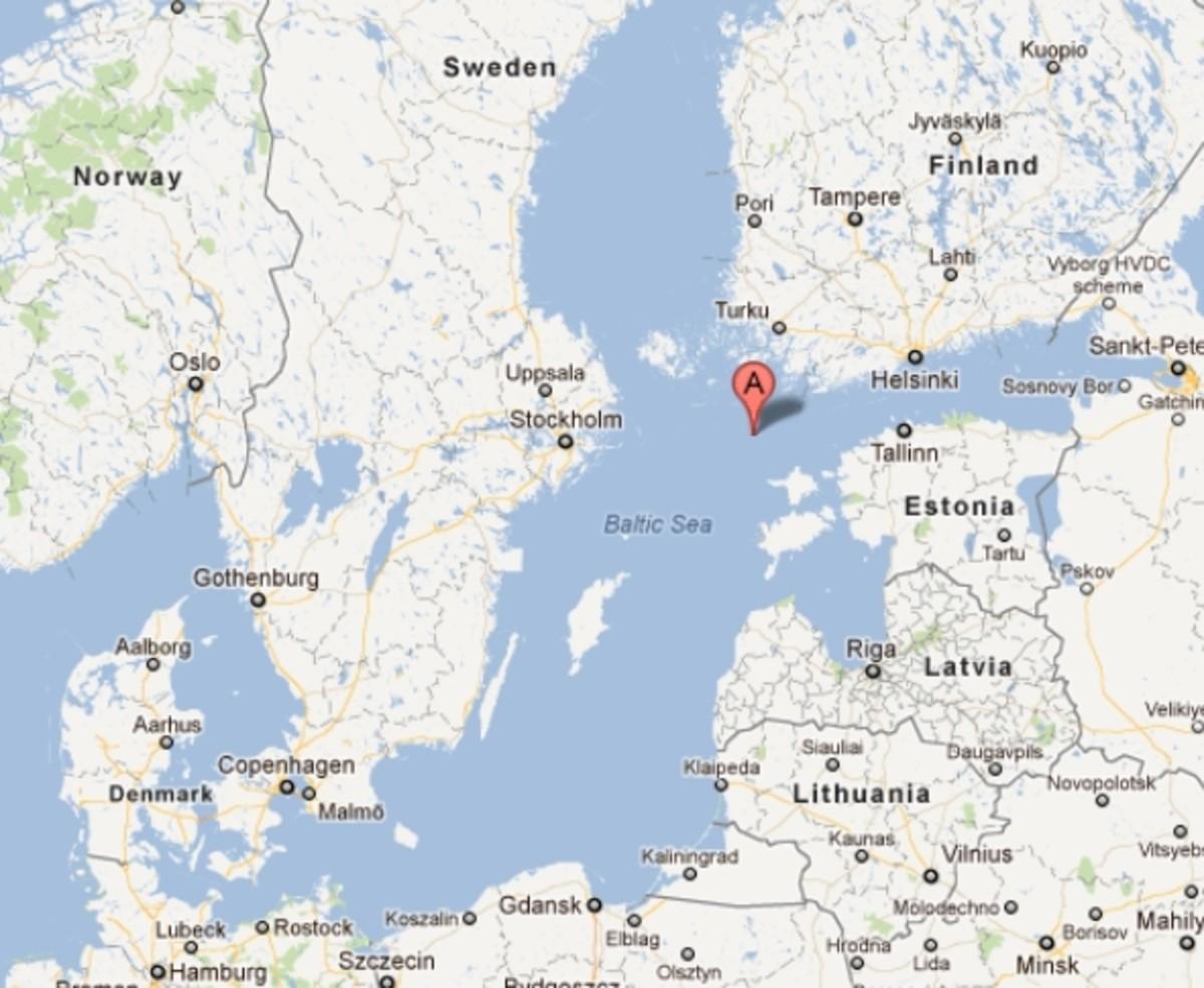Site of the MS Estonia wreck.