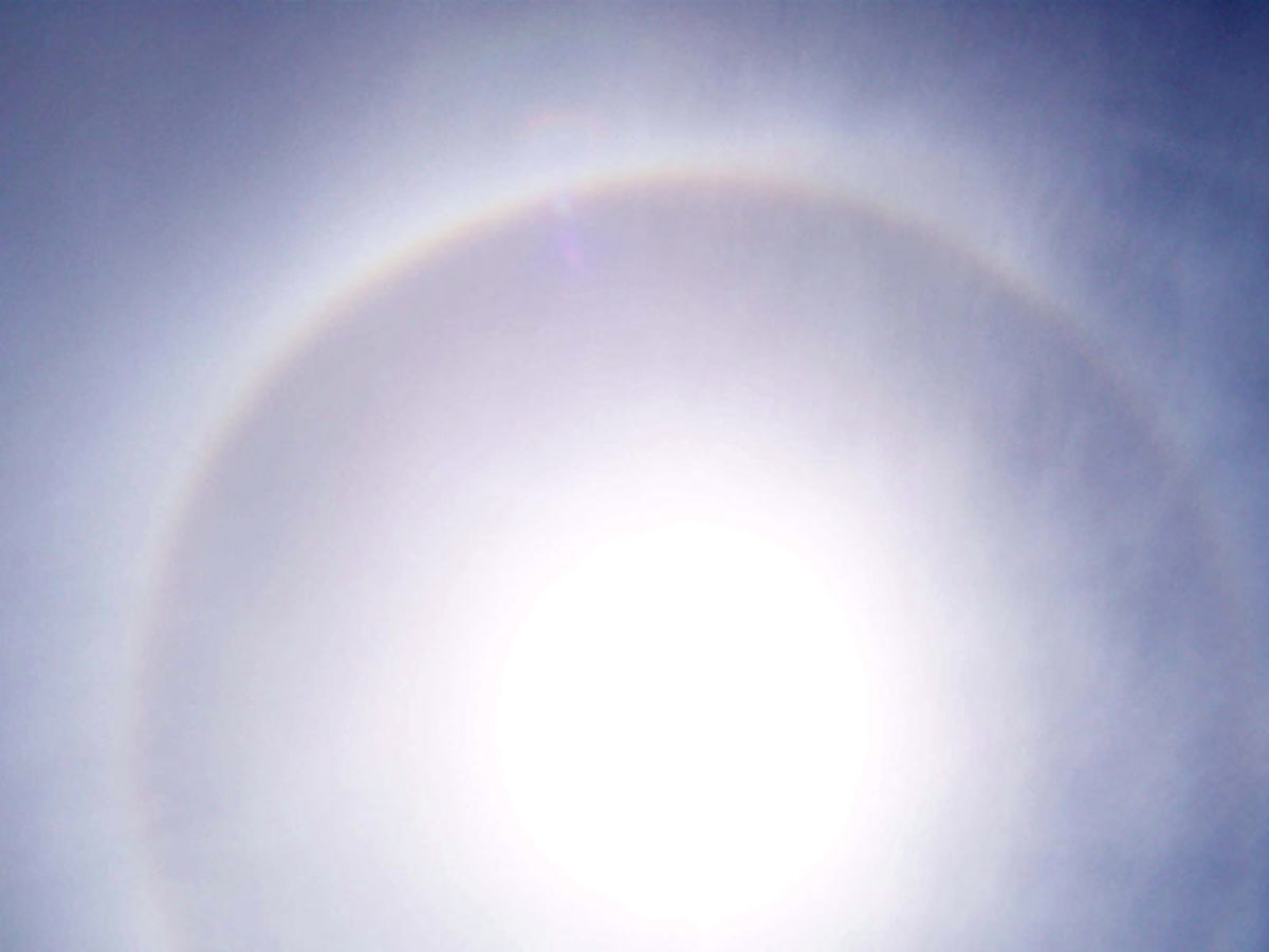 Cirrostratus clouds often create a ring around the sun or moon.
